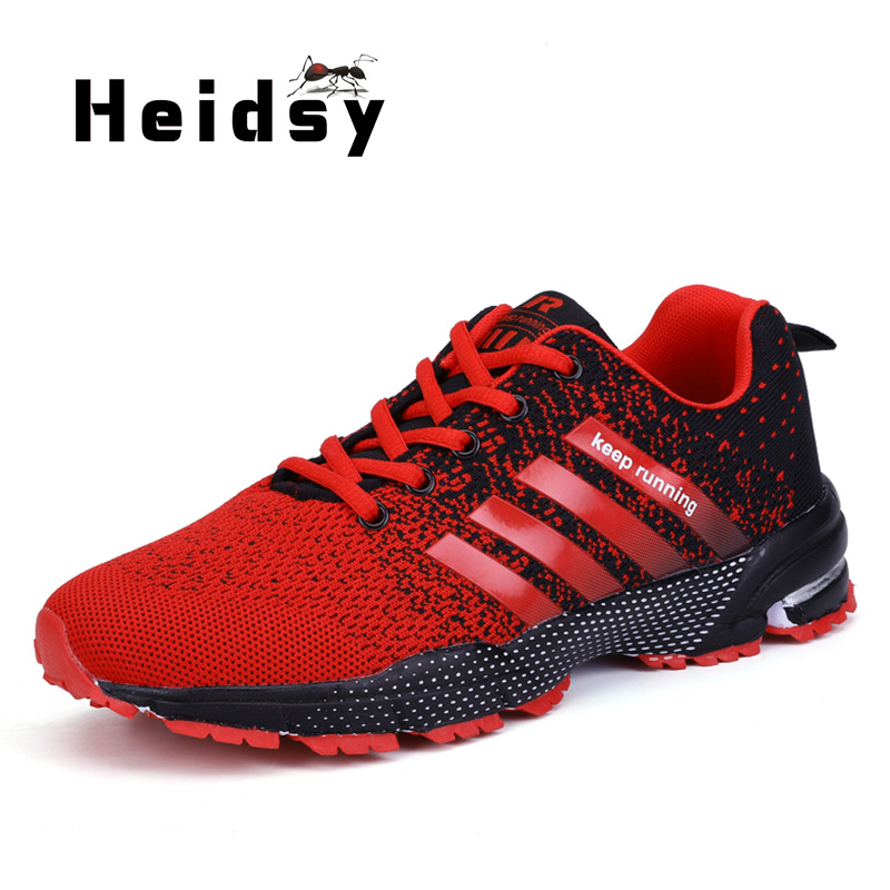 Heidsy 2019 Spring Autumn New Fashion Casual Men's Sneakers Breathable Damping Lightweight Sports Shoes Simple Lace Casual Shoes