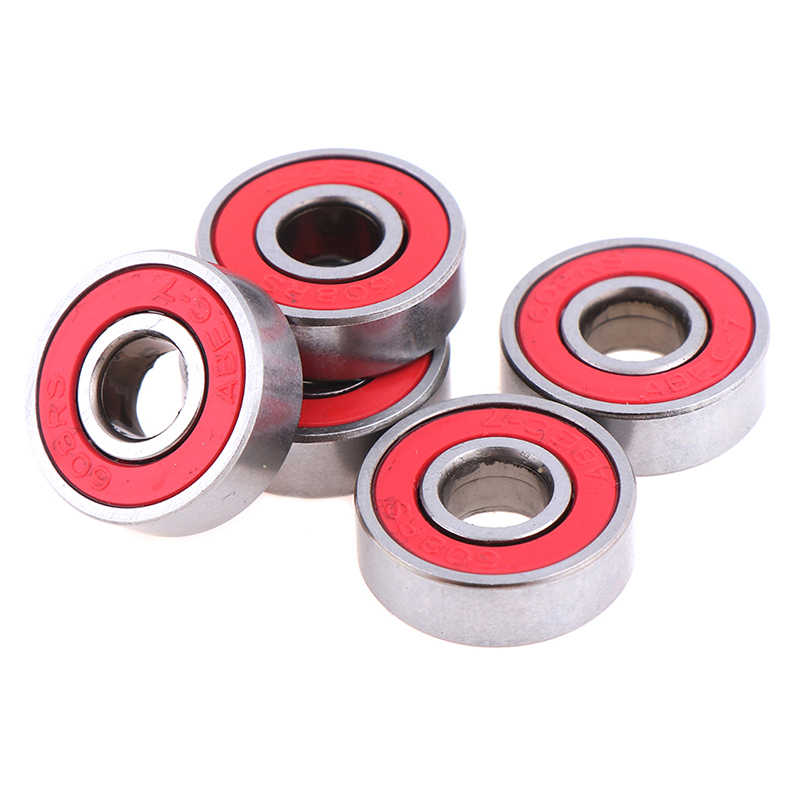 5Pcs Merah ABEC-7 608RS Skateboard Roller Sealed 8X22X7 Mm