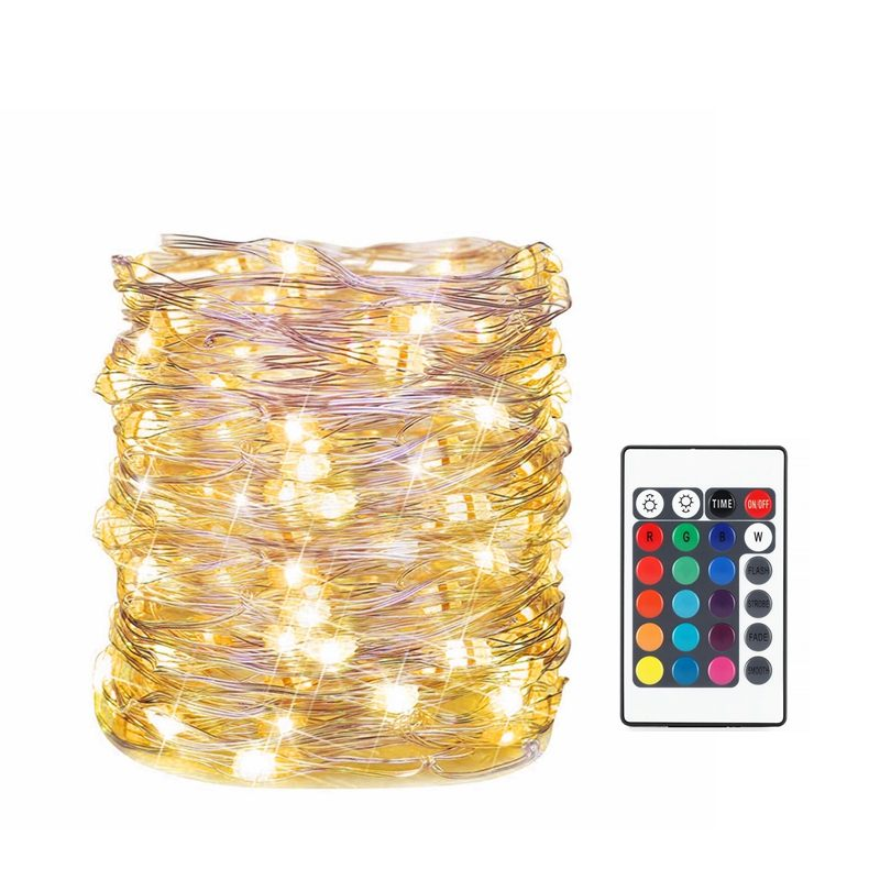 USB 50/100LED RGB Fairy String Light With 24key Remote Control For Chrismas Tree's Decoration 16Colors 7M 10M DC5V