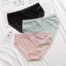 Underwear Briefs Lingerie Seamless Women Lace Hot-Sale Cotton Cute Breathable Patchwork
