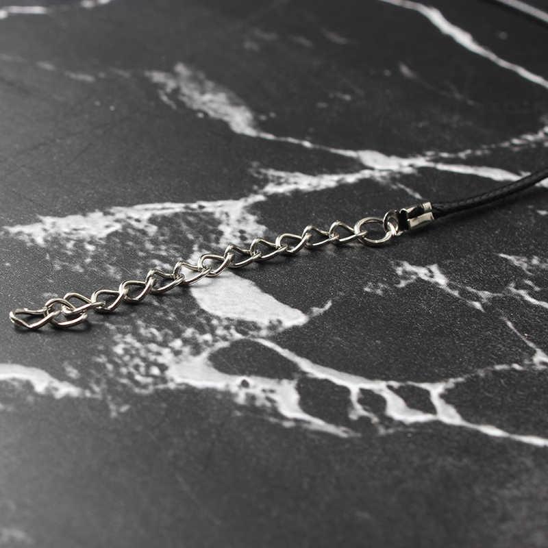 LanLi سداسية العمود القلائد المعلقات الكريستال الطبيعي حجر قلادة الجلود قلادة سلاسل للنساء مجوهرات الأزياء