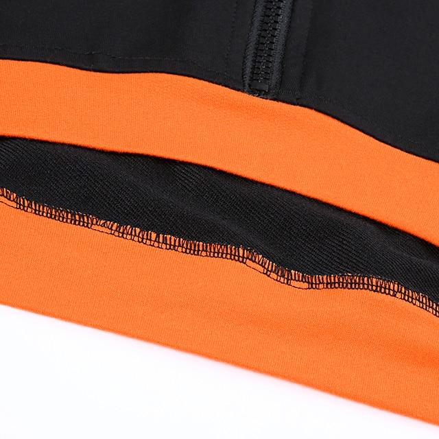 Crop top sweatshirt in black and orange