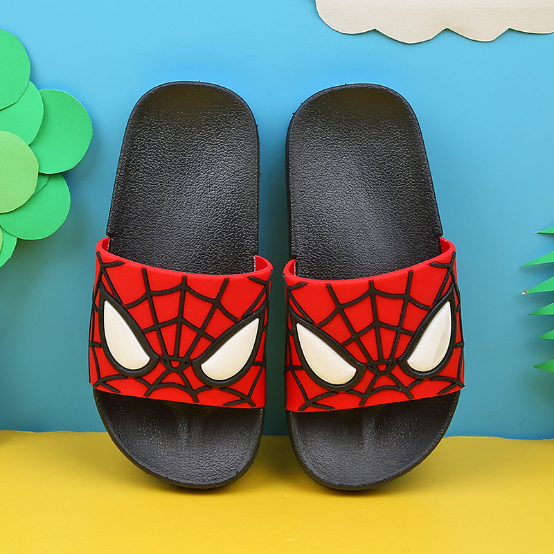 Spiderman Summer Kids Slippers For Boys Girl 2020 Home Flip Flop Children Indoor Beach Sandals Non-slip Parent House Casual Shoe
