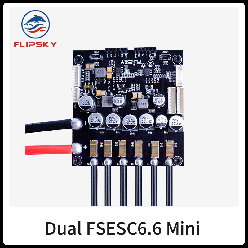 Mini Size Electronic Speed Controller Flipsky Dual FSESC6.6 With Aluminum Heatsink Open Source Project Fit With VESC6 Software