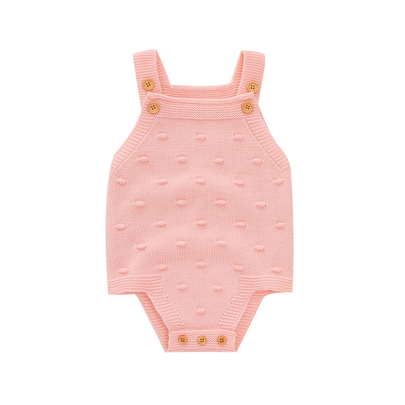 Spring Autumn Infant Baby Girls Clothes Sleeveless Knitted Rompers Kids Boys Girls Solid Jumpsuit For Newborn Clothes