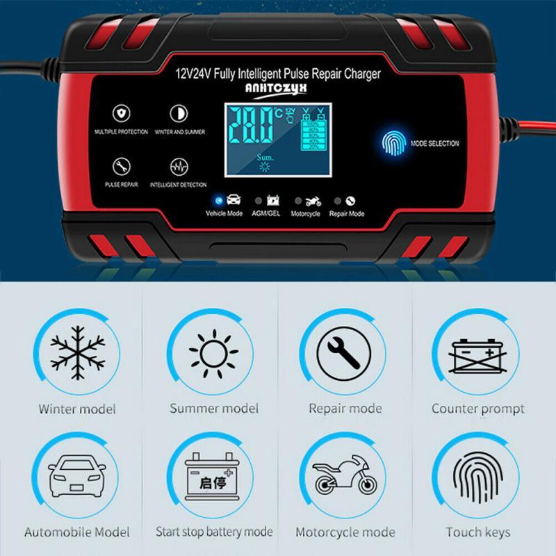 EU/US/AU/UK Stecker Auto Starthilfe Notfall 12 V/24 V Power Bank Batterie ladegerät Mit LCD Display Auto Batterie Booster Buster