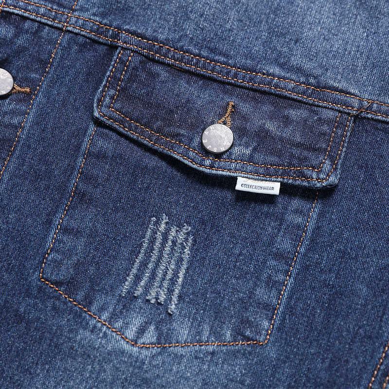 10XL 8XL 6X2020 männer Denim Jacke Hohe Qualität Cowboy herren Jeans Jacken Schwarz Feste Beiläufige Dünne streetwear Männer Jean Kleidung
