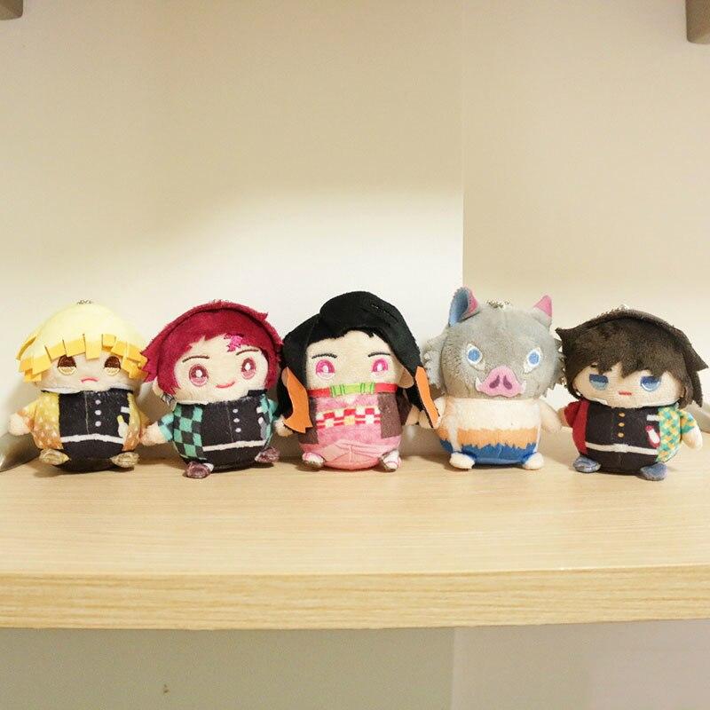 Japan Anime Plush Dolls Figure Keychain Demon Slayer: Kimetsu No Yaiba Tomioka Giyuu Cosplay Cute Pendant Keyring Unisex Gifts