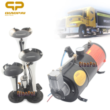 3 Trumpet Car Air Horn Compressor 12V 150PSI Pipe Loud Kit Liter Truck Vehicle 3L Trumpets 150DB for Pickup Train