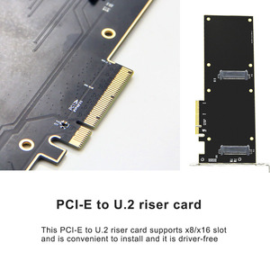 Image 4 - U.2 to PCI E X4 Riser Card PCI Express to U.2 Adapter Board PCI E to SSD Hard Drive Converter Card for 2.5 Inch SATA HDD