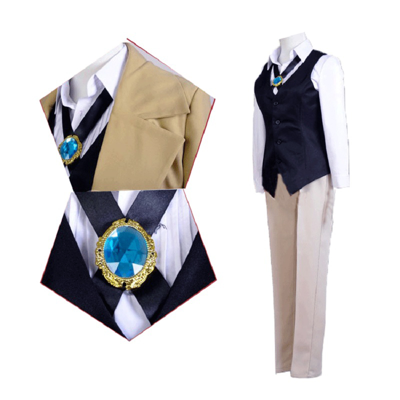 Anime Bungo chiens errants Dazai Osamu Cosplay Costume homme femme Halloween christmasuniformes Trench chemise gilet pantalon ensembles complets - 3