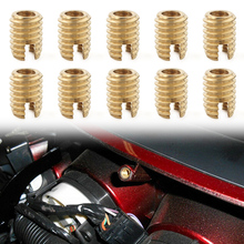 Motorcycle Batwing Fairing Brass Thread Inserts Repair Bolt For Harley Touring Electra Glide FLHT FLHX 10pcs/set Accessories