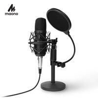 MAONO Podcast Mikrofon Kit 3,5mm Kondensator Studio microfono Professionelle Computer Mic für Youtube Skype Gaming PC Laptop