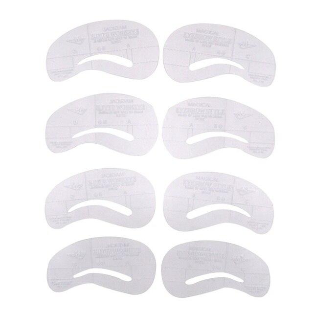4pcs Eyebrow Kit Reusable Eye Shadow Frames Card for Women Makeup Tools Eyebrows Template Card DIY Eyebrow Tool 4
