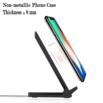 10W Qi Wireless Charger Mobile Phone Stand QC2.0 Fast Charging Charger For Samsung Galaxy S9/8/7 IPhone X/8 Xiaomi Huawei 1