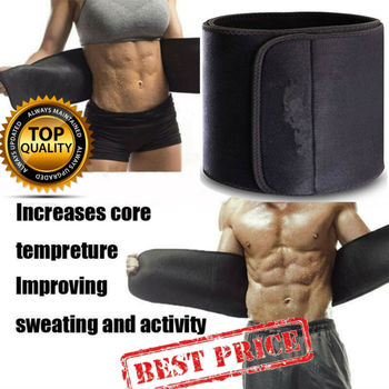 2019 New Men Womens Waist Trimmer Belt Sweat Wrap Tummy Weight Loss Fat Burner Waist Support