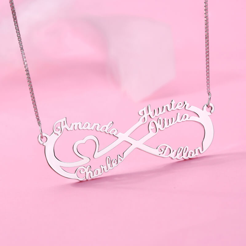 AILIN Custom Necklace Stainless Steel Gold Color Chain 1-8 Name Necklace Personalised Women Girl Nameplate Pendant Jewelry Gifts