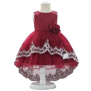 Bebê recém-nascido vestidos de verão da menina do laço vestido de batismo de flor vestido de aniversário do bebê vestido de princesa