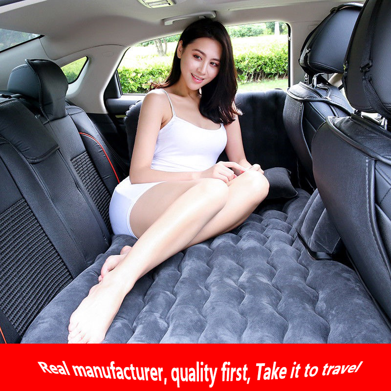 Car Inflatable Bed, Car Mattress, Car Rear Travel Bed, SUV Rear Seat, Sleep Cushion, Air Cushion, General Purpose image