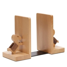 Solid Wood Book Stand By Book Stand, Wooden Book End Decoration Book Shelf, Desk Book Storage