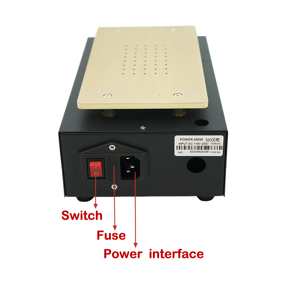tela de toque lcd preheat separador máquina