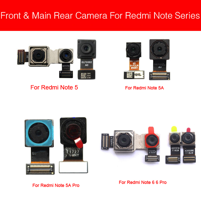 Main Back Camera For Xiaomi Redmi Note 5 5A 6 7 Pro Rear Camera Flex Cable Facing Camera Model 100% Tested Cell Phone Parts