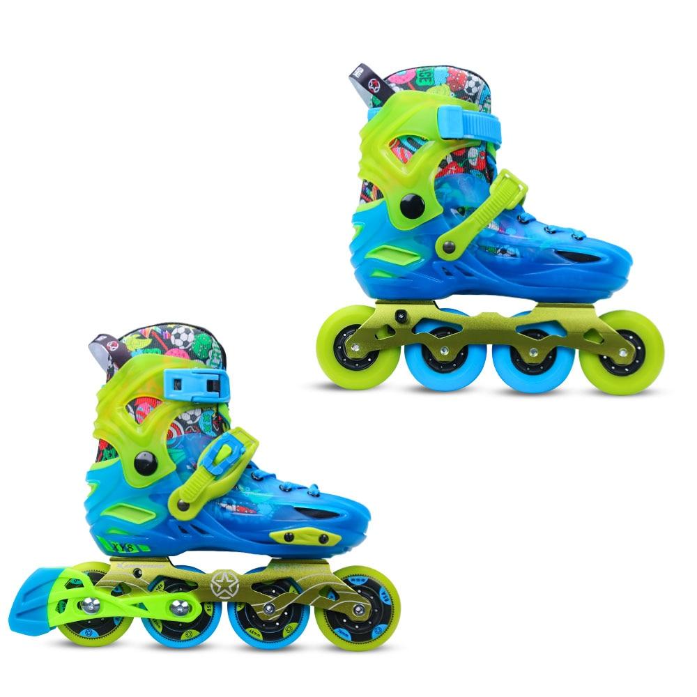 YF YOUFU Inline skate Children's slalom 4W 68 70 roller skate shoes