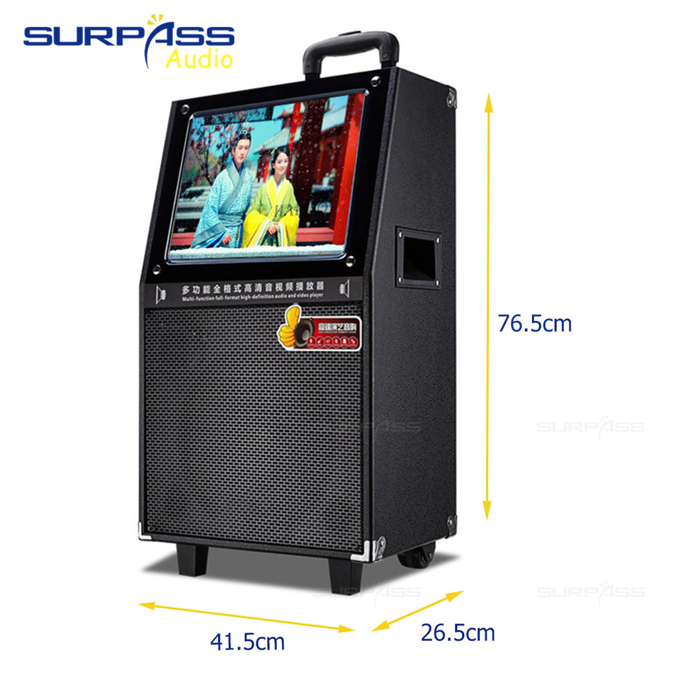Portable High Quality System 12Inch Woofer Trolley Karaoke Speaker Outdoor Speaker with 15inch HD Touch Screen 2