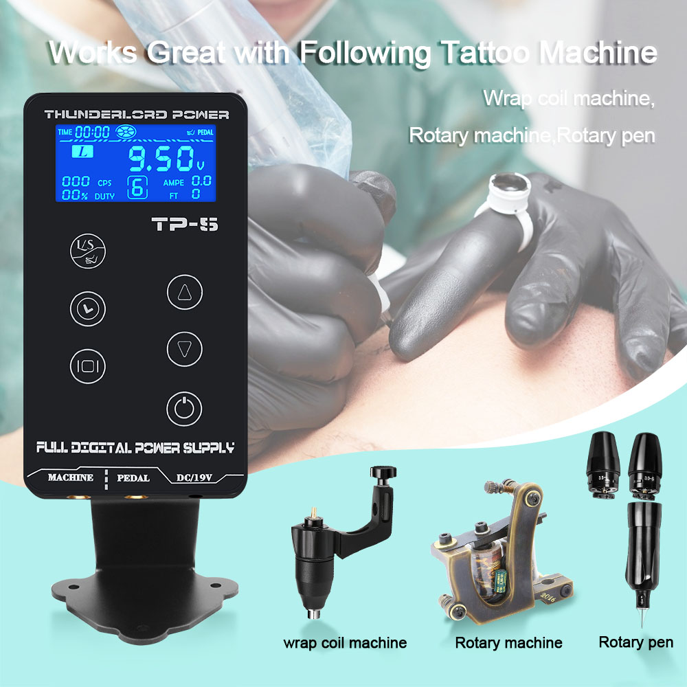 Image 5 - Tattoo Power Supply HP 2 UPGRADE Touch Screen TP 5 Intelligent Digital LCD Makeup Tattoo Machine Supplies set-in Tattoo Power Supply from Beauty & Health