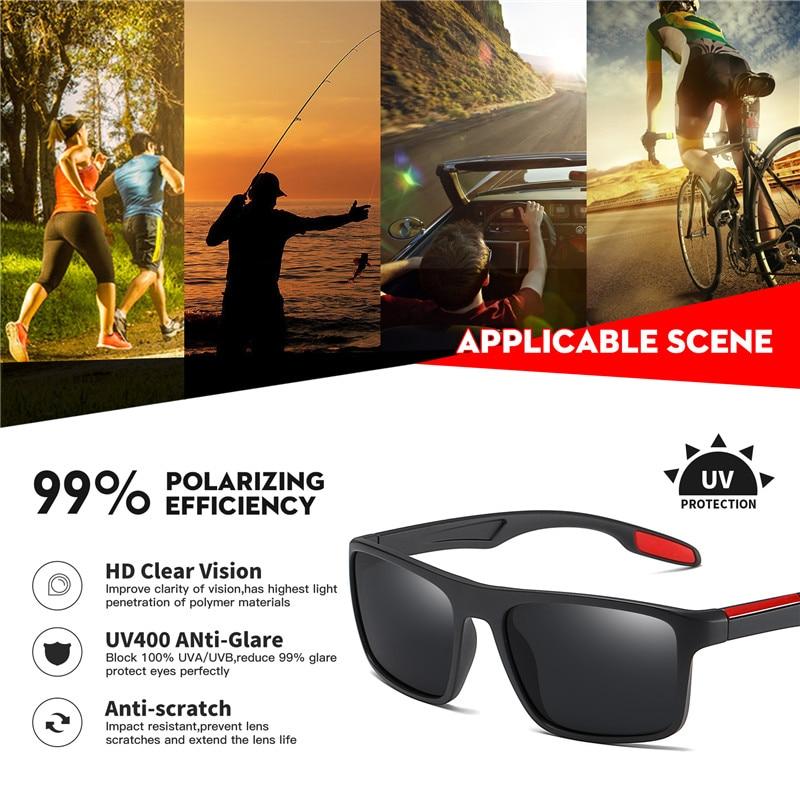 AOFLY BRAND DESIGN Polarized Sunglasses Men Ultralight TR90 Frame Driver Fashion Mirror Sun Glasses Women Square