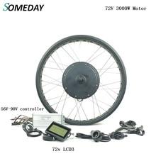 Сmomeday, электрический велосипед, bicycle72V, 3000 Вт, BLDC, Задняя кассета, мотор-концентратор с LCD3 дисплеем, 20, 26 дюймов