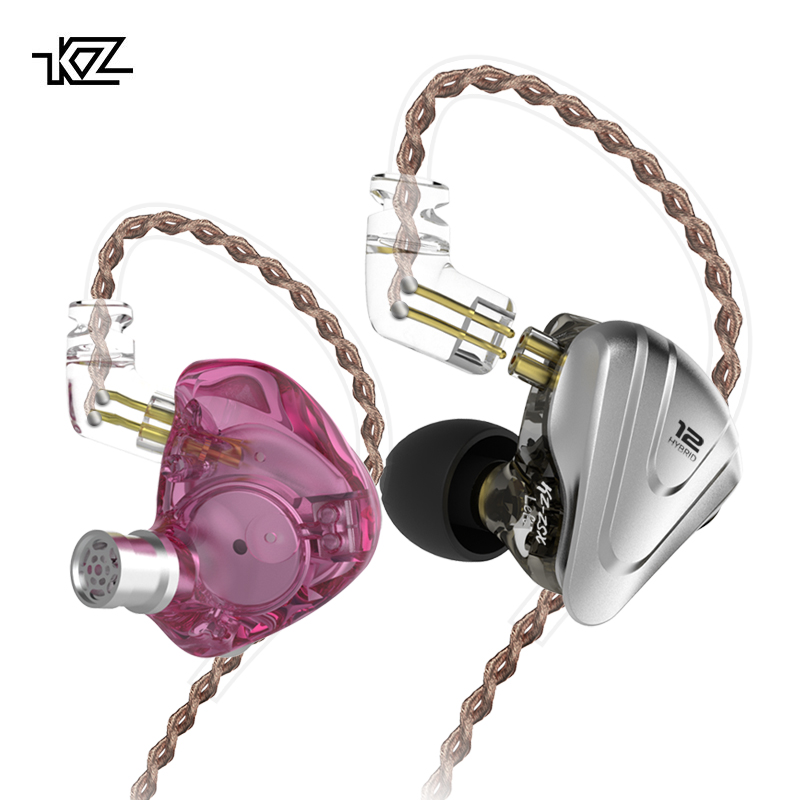 KZ ZSX Terminator Bass Headphone 5BA+1DD 12 Unit Drivers Hybrid In-ear HIFI Metal Headset Music Sport DJ Earphone