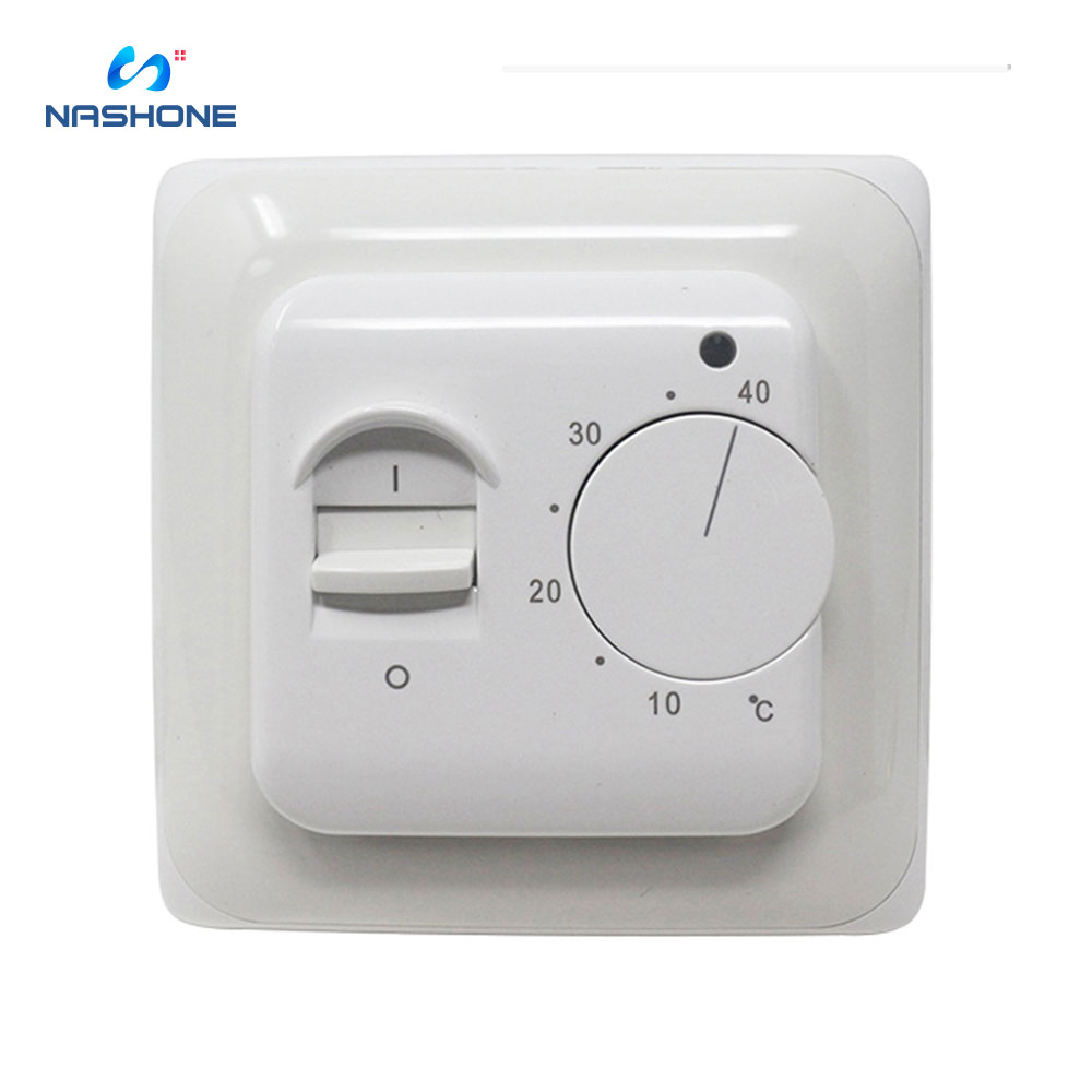 Nashone Manual Temperature Controller Thermostat 220V 230V 16A NTC Sensor Electric Floor Heating Room Thermostat Warm Regulator