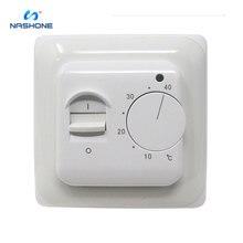 цена на Nashone Manual Temperature Controller Thermostat 220V 230V 16A NTC Sensor Electric Floor Heating Room Thermostat Warm Regulator