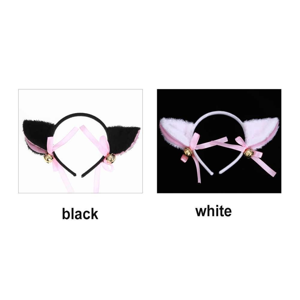 แฟชั่นแมวหู Headband ผู้หญิงผ้าฝ้ายขนสัตว์อินเทรนด์แถบคาดศีรษะ, น่ารักผม Hoop กระต่ายหู Headwear ผู้หญิงอุปกรณ์เสริมผม