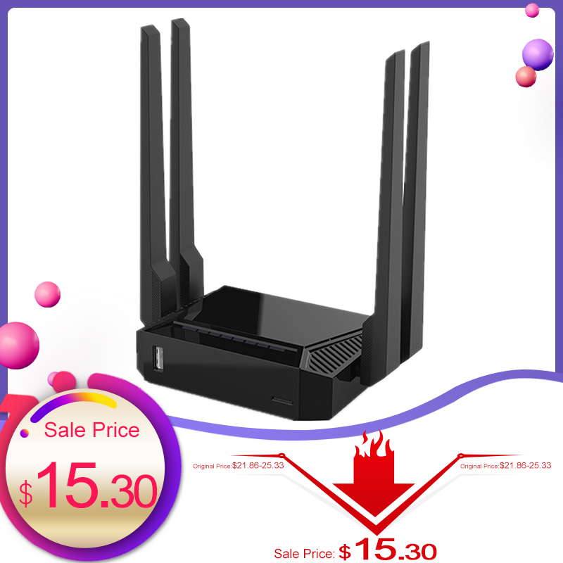 Original WE3826 Wireless WiFi Router 2.4G USB2.0 Wi-fi Repeater Extender DDR2 64M MTK7620N 4 Anttenas English Firmware Lan Cable