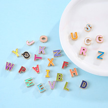 50pcs/lot Colorful Alphabet Letter Shape Beads For Jewelry Making DIY Bracelet Necklace Jewelry Gift