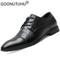 2019 new fashion men's dress shoes genuine leather male nice classic black shoe man work office formal shoes for men size 36 50