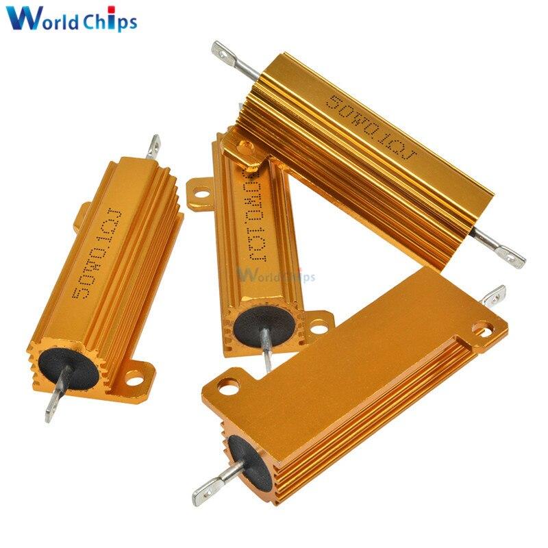 High Power 0.5 Ohm 0.5R 100W Watt Aluminum Shell Case Wirewound Golden Resistor