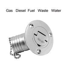 45 graus de combustível deck enchimento tampa aço inoxidável 316 gás diesel combustível águas residuais 38mm 50mm marinha barco iate acessórios peças