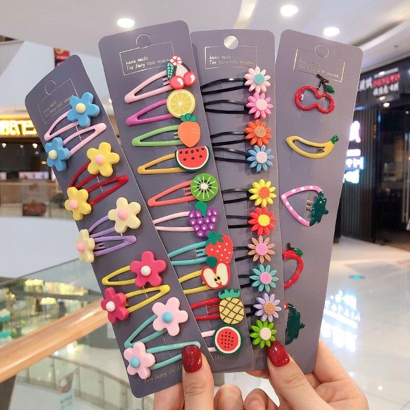 Girls Cute Cartoon Hairpins fashion Fruit Hair Clips coleteros Headband scrunchies Kids Jewellery hair ornament Hair Accessories
