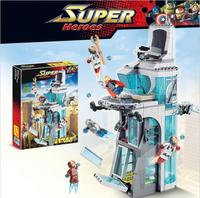 Decool 7114 Avenger Super Hero Attack on Avengers Tower Bricks Giant Building Block Toys Compatible with Legoin 76038