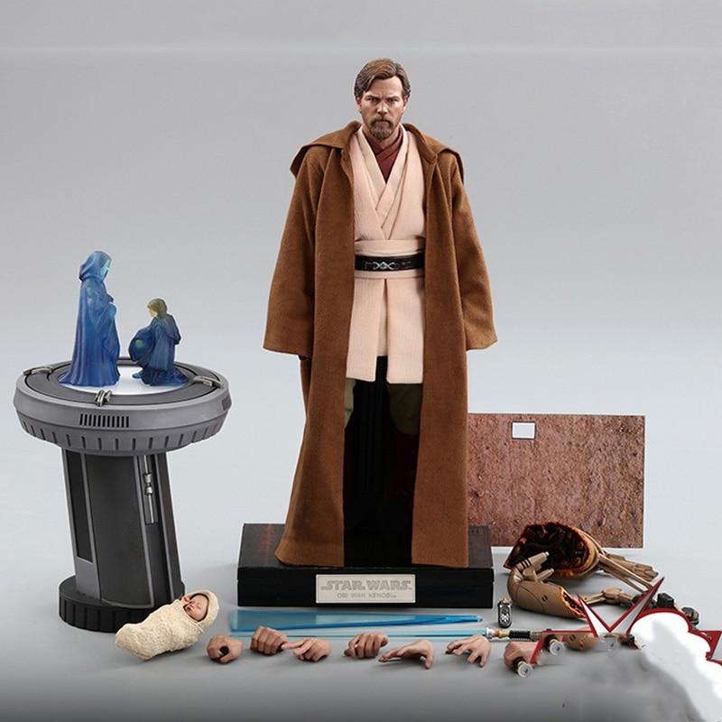 HOTTOYS MMS478 1/6 Scale Male Obi-Wan Kenobi Jedi Master Full Set Boxed Model 12