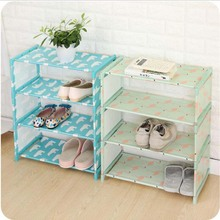 цена 4 Layers Non-woven Shoe Shelf Rack Living Room Fabric Dustproof Cabinet Organizer Holder Foldable Stand Shoes Shelf онлайн в 2017 году