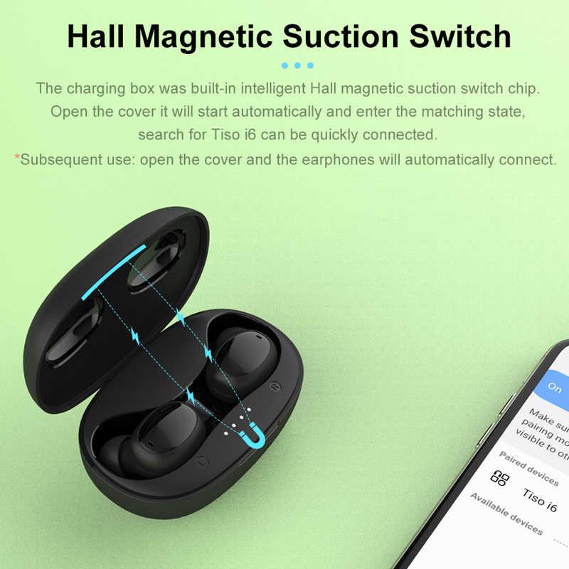 Auriculares inalámbricos Tiso i6 con control táctil, interruptor sin costuras, mini auriculares Bluetooth 5,0, auriculares estéreo con cancelación de ruido, micrófono 3D TWS
