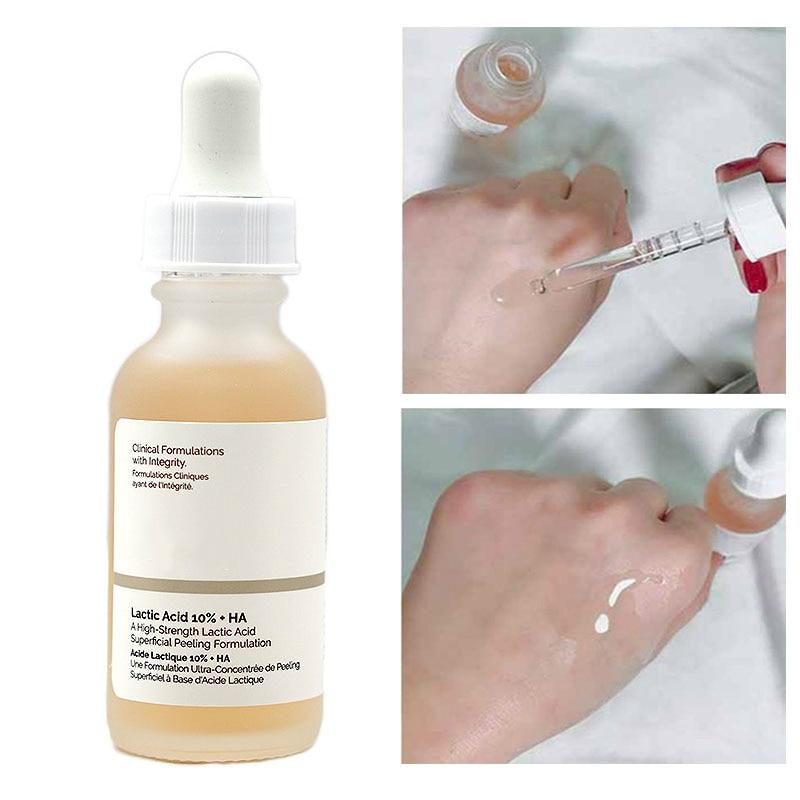 Оригинальный Latic кислота 10% + HA-кислота уход за кожей лица Сыворотки Гиалуроновая кислота Осветляющий отслаивание снятия, что обеспечивает г...