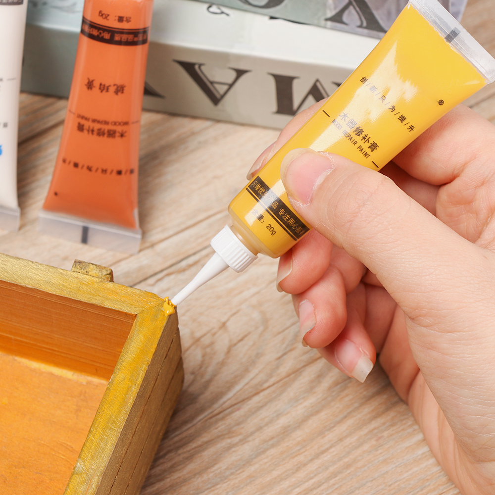 1Pc 2020 Wooden Furniture Touch Up Tool Set Marker Pen Cream Wax Scratch Filler Remover Repair Polymer Resin Wood Products Hot