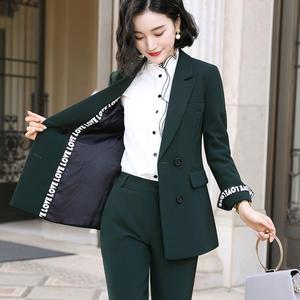 Image 2 - Elegante Lange damen blazer mit tasten Frauen Feste Jacke von hohe qualität Outwear mantel Schwarz Rosa Weiß; Blau Champagner