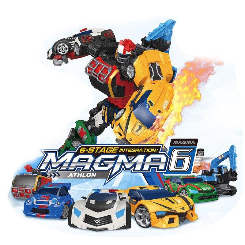 Extra Large Transformation Tobot Robot Action Figure Toy Car Toys For Children Cartoon Animation Model Set Juguetes