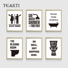 Funny Toilet Note Quotes Poster&Prints Modern Washroom Canvas Painting for bathroom modular Art Pictures Home murals wall Decor